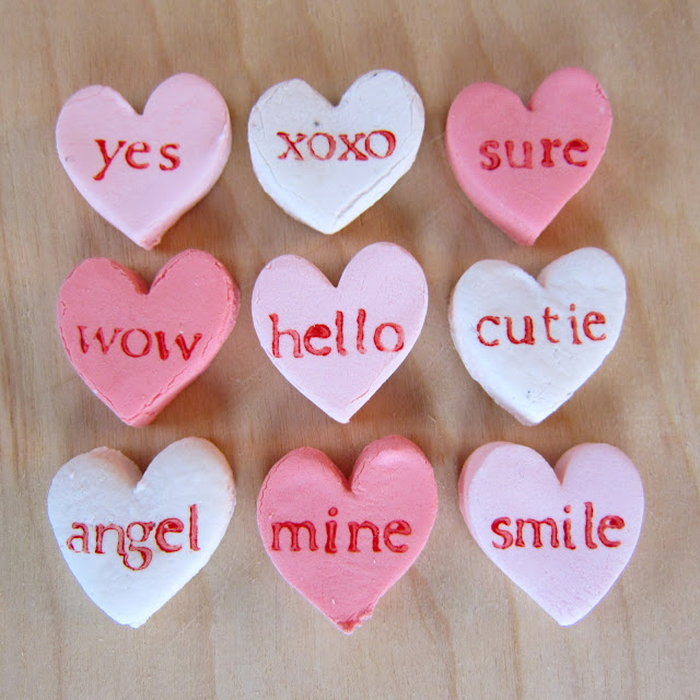 homemade candy conversation hearts