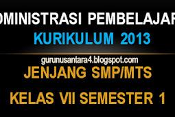 Administrasi Mengajar K13 IPS Kelas 7 SMP/MTs Lengkap SM 1