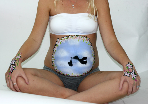 Coolest Pregnant Belly Paintings
