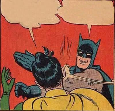 Batman slapping Robin image