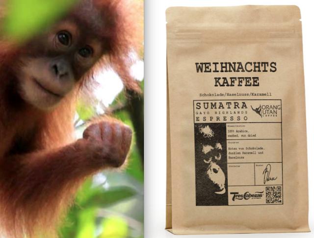 Weihnachtskaffee zum Schutz der Orang Utans