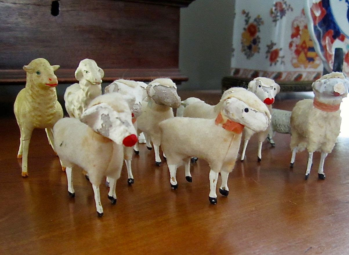 vintage sheep flock