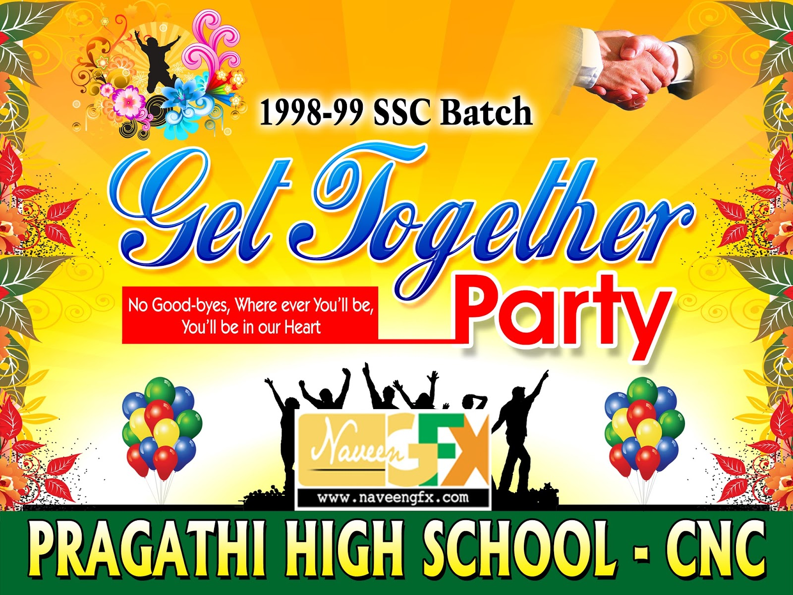 Get together party banner psd template free downloads naveengfx get together farewell psd banner template free downlods stopboris Images