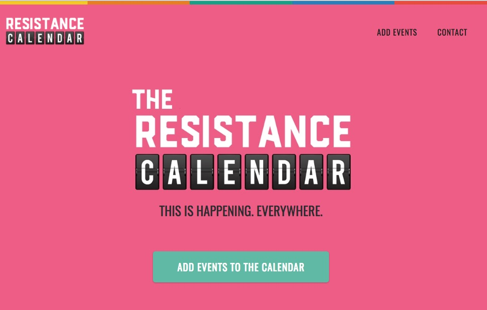 National Coast to Coast Resistance/Indivisible Calendar