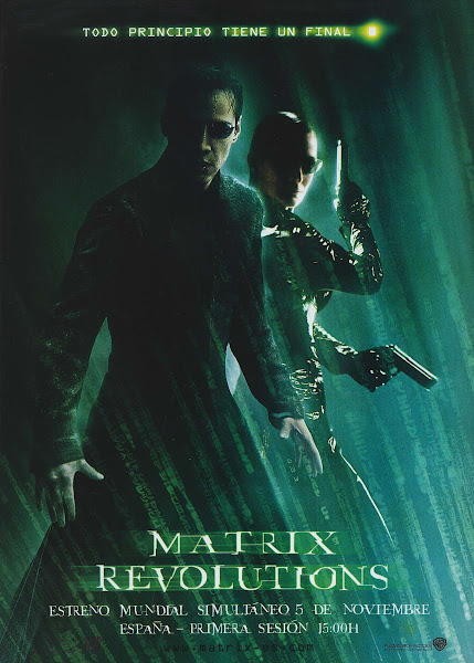 Poster of The Matrix Revolutions 2003 720p Hindi BRRip Dual Audio Full Movie