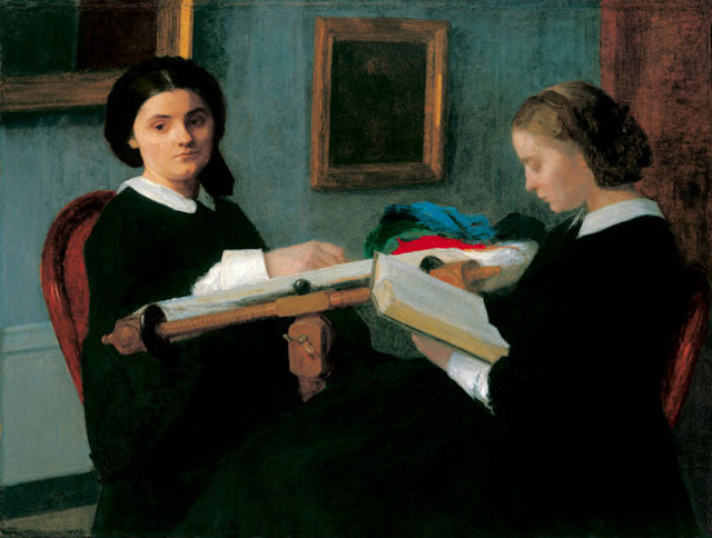 Henri Fantin-Latour : Les deux soeurs ou les brodeuses (1850)
