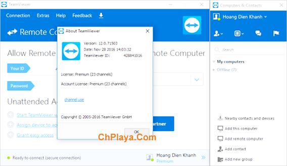 Tải TeamViewer 12 - Phần mềm điều khiển PC miễn phí