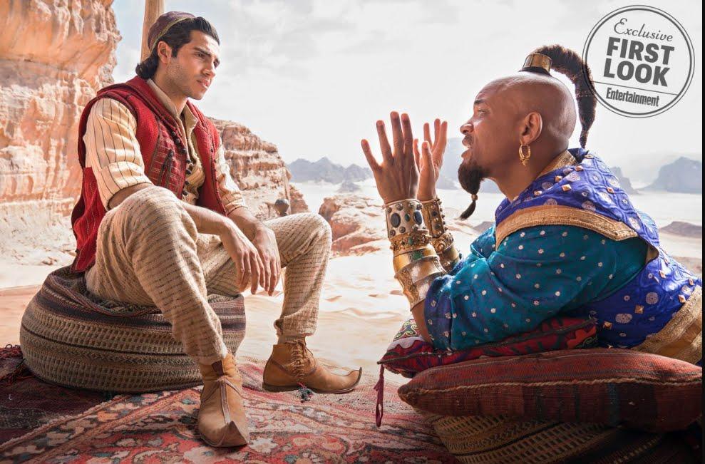 Will Smith è il Genio della lampada nel film Aladdin.