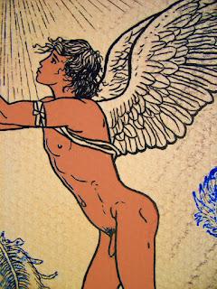 Dessins mythologie, garçon nu, Icare, dessin, dessin de nu, éphèbe nu, mythologie, mythologie grecque,