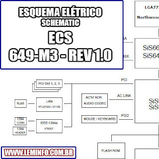 Esquema Elétrico Placa Mãe ECS 649-M3 - REV 1.0 Motherboard Manual de Serviço  Service Manual schematic Diagram Placa Mãe ECS 649 - M3 - REV 1.0 Motherboard      Esquematico Placa Mãe ECS 649-M3 - REV 1.0 Motherboard