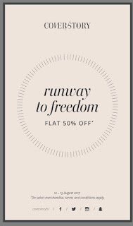 "This Independence Day Celebrate Flat 50% Sale with Cover Story ""Runway to Freedom"""