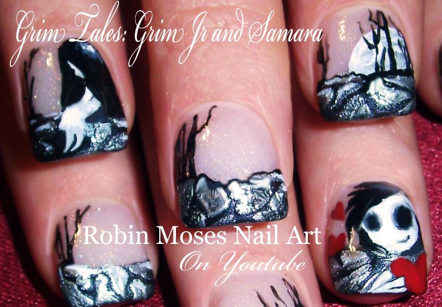 Nail Art by Robin Moses: Anti-Vaentine\'s Day Nail Art Design Ideas ...