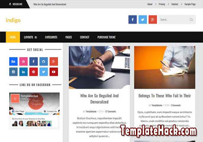 indigo news blogger template