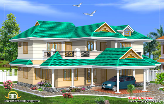 Duplex house elevation - 250 square meters (2700 Sq. Ft.) - February 2012
