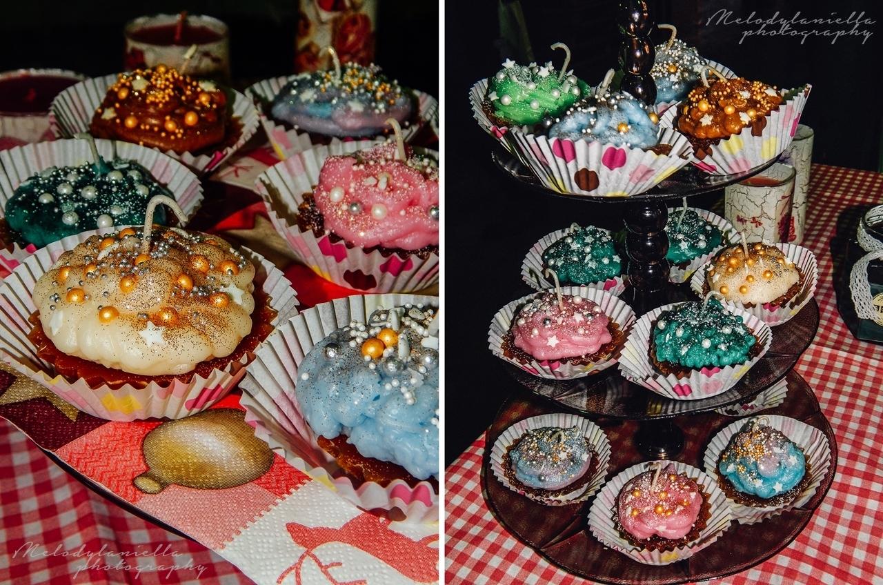 handmade diy świeczki w kształcie muffinek cupacake pomysł na prezent muffinki ciasteczka Boże Narodzenie święta