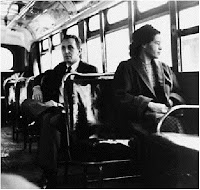 Rosa Parks on Montgomery Bus