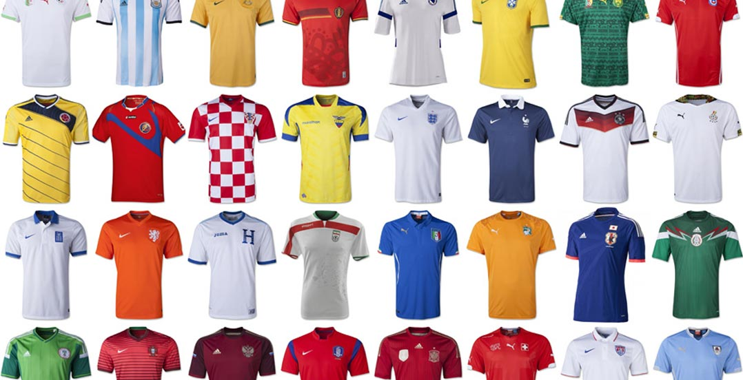 best website ecb92 6d5c2 Throwback - Here Are All 65 2014 World Cup Kits In Detail ...