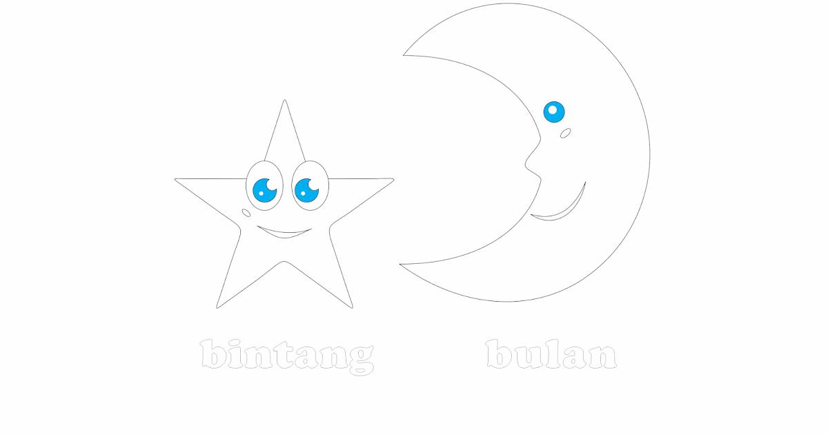 Benda Langit Mewarnai Gambar Bulan Bintang Wwwimagenesmicom