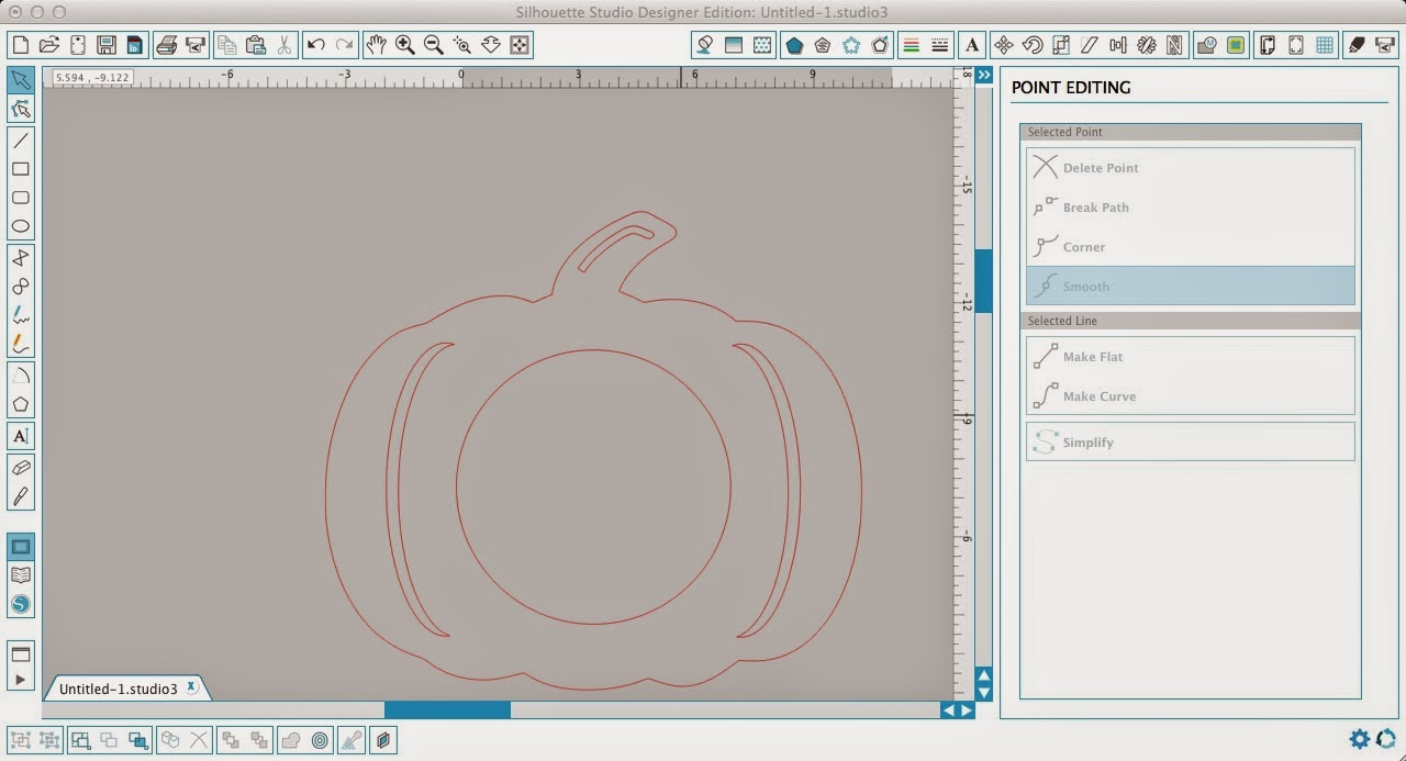 Monogram, pumpkin, Silhouette Studio, Silhouette tutorial, point editing