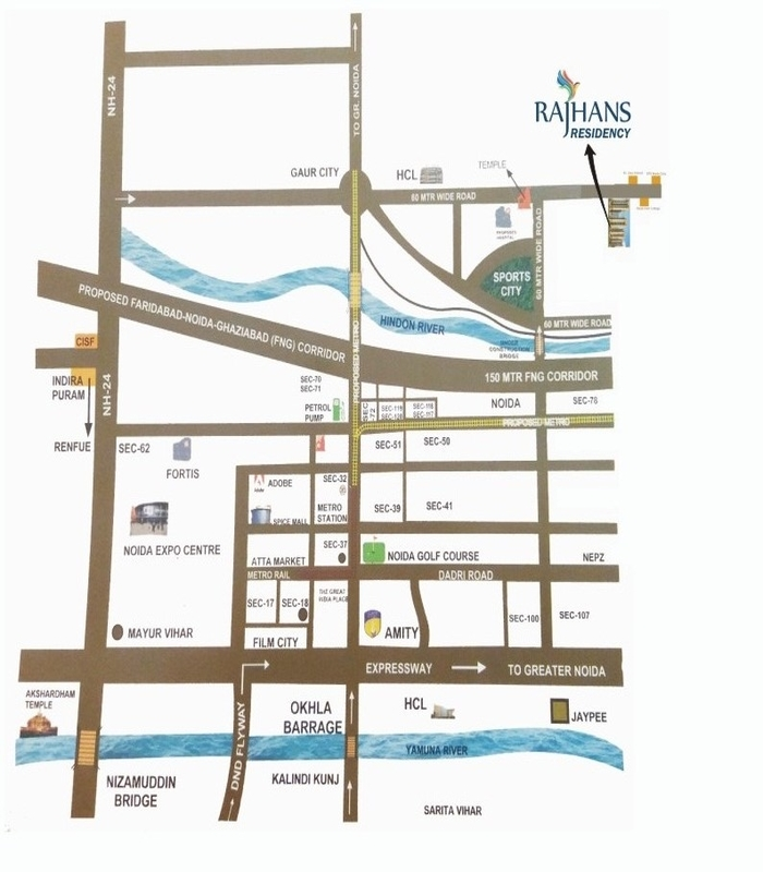 location-map-rajhans-residency-noida-extension