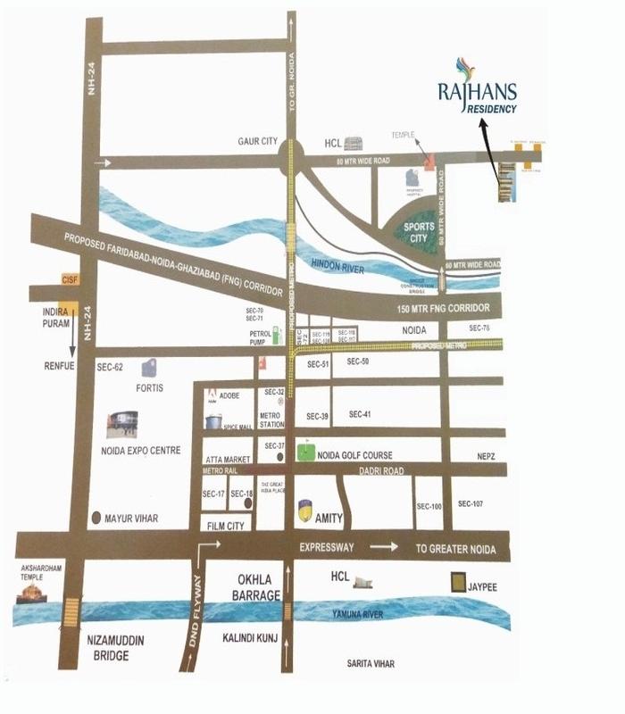 location-map-rajhans-residency-noida-extension