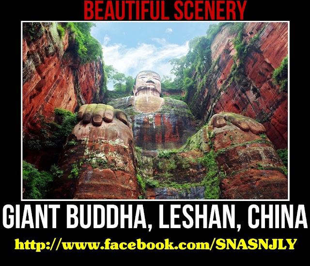 Giant Buddha, Lashan, China,Beautiful scenery