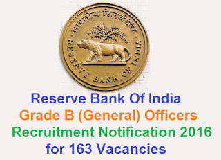 RBI Grade-B Officers recruitment