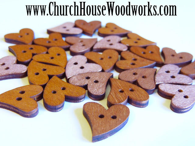 DIY Sewing Heart Buttons by Church House Woodworks