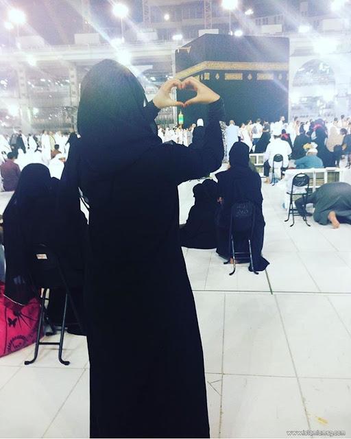 makkah selfie girl
