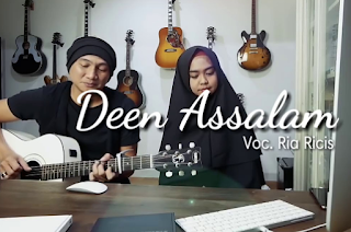 Ria Ricis, Anji, Nissa Sabyan, Lagu Religi, Lagu Cover, 2018,Download Lagu Anji Ft Ria Ricis Deen Assalam Mp3 (Single Relisi Nissa Sabyan Paling Top)