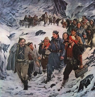 Ejército Popular – Ejército de la Revolución - Arif Hasko - en el 30 aniversario del Ejército Popular de Albania - año 1973 Hoxha+-+Rompiendo+el+cerco