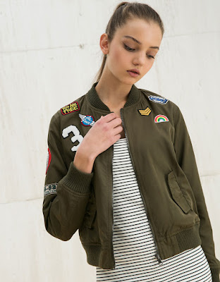 Patches on my bomber jacket, $53.50 from Bershka