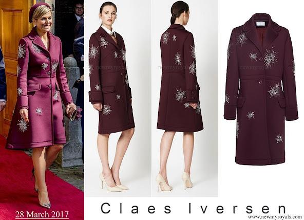 Queen Maxima wore Claes Iversen Sirius Coat