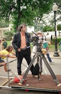 Oliver Stone filming 1991 controversial film JFK
