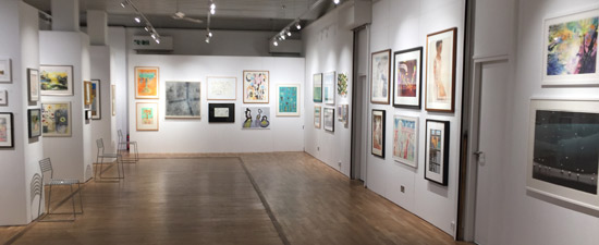A view of the exhibition at the Bankside Gallery