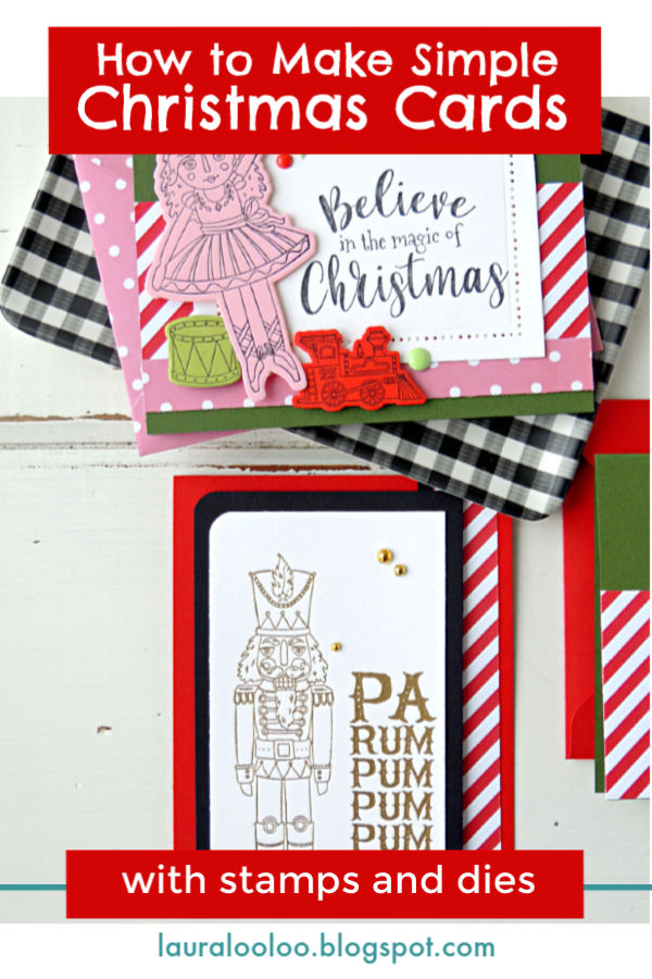 lauralooloo: How to Make Simple Stamped Christmas Cards