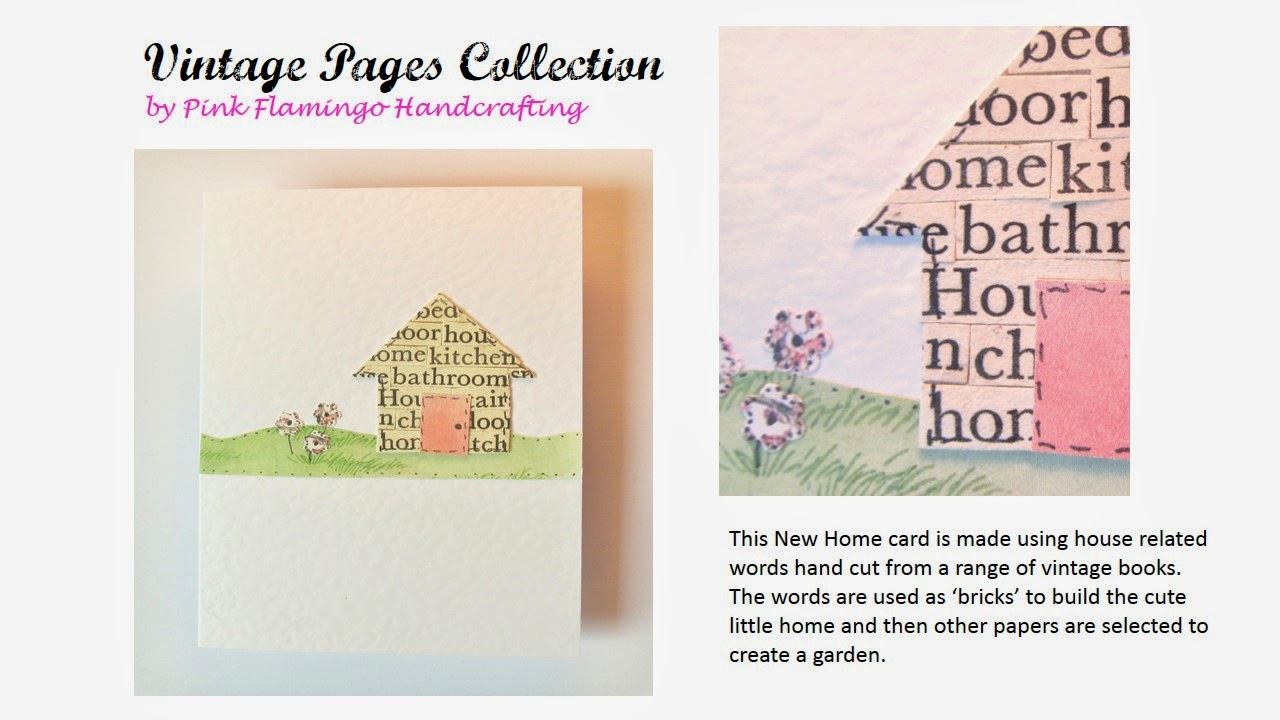 Unique vintage new home card by Pink Flamingo Handcrafting