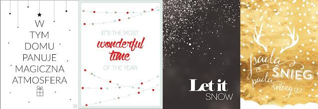 ❄ Świąteczne i noworoczne plakaty do druku ❄