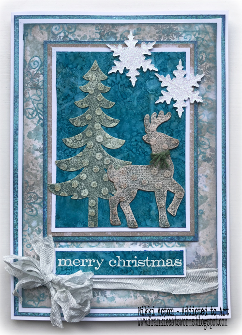 Faded Layers and Distress Oxide Christmas Card - by Nikki Acton