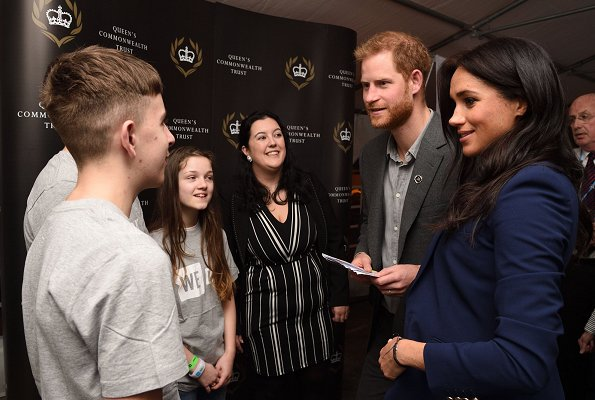 The Duchess of Sussex, Meghan Markle wore a new navy cashmere jacket by Ralph Lauren