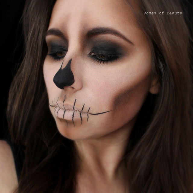 halloween looks perfekt schminken vorlagen. Black Bedroom Furniture Sets. Home Design Ideas