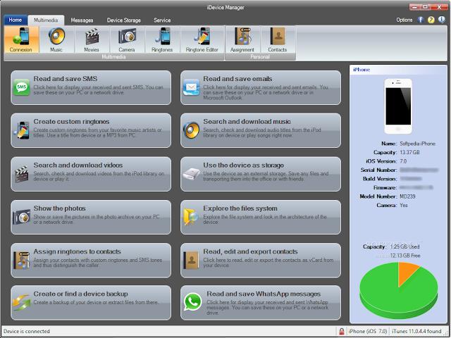 تحميل برنامج نقل الملفات من الايفون الى الكمبيوتر iDevice Manager
