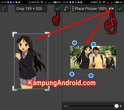 Cara Edit Foto Bareng Kartun Anime