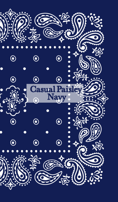 Casual Paisley (Navy)