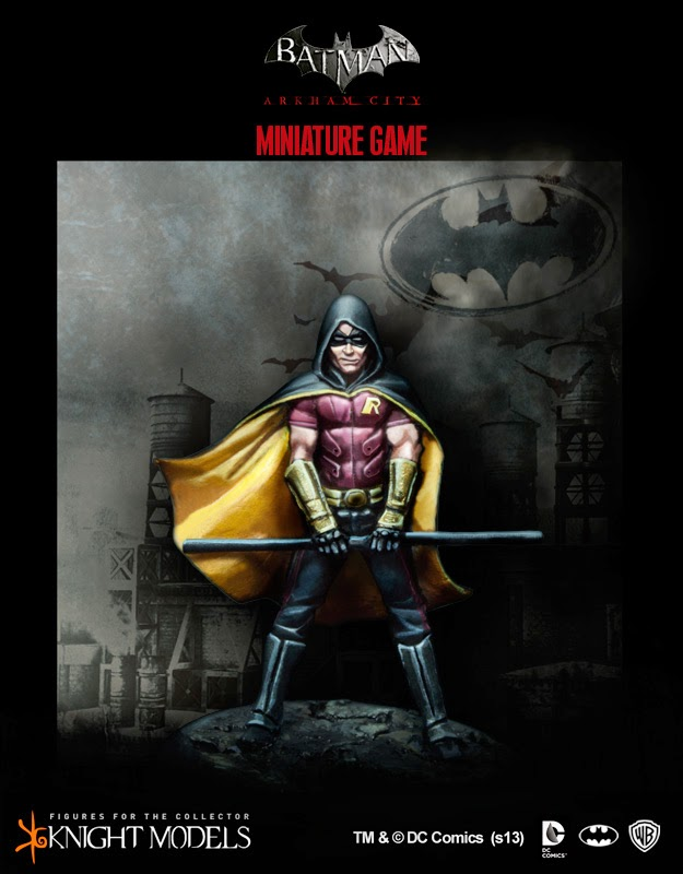 robin- unboxing-free agent-batman miniature game-knight model-agente libre-batman
