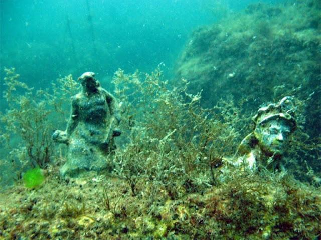 su altı müzesi heykel