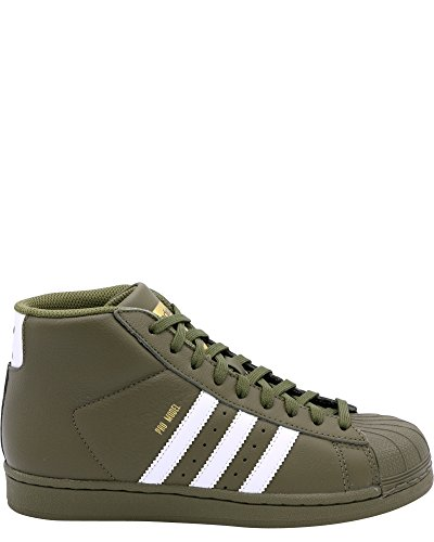 the best attitude 727fe 1748a adidas Originals Kids Unisex Pro Model (Big Kid) Olive Cargo White Gold 6 M  US Big Kid 2019