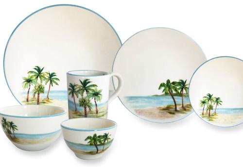 Palm Tree Ceramic Dinnerware
