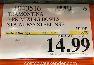 Deal the Tramontina 3 pk Mixing Bowls at Costco