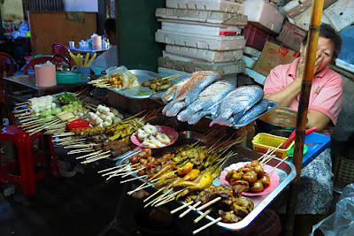 snacks and other dishes including sea food